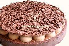 Tarta toffee de chocolate y avellanas
